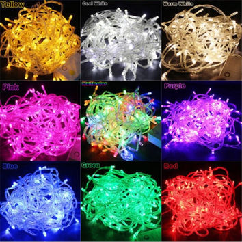 10M 100 LED Christmas Tree Fairy Colorful String Party Lights Lamp Waterproof = 1946588356