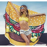 Hamburgers beach towel