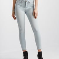 High-Waisted Light Wash Ankle Jegging