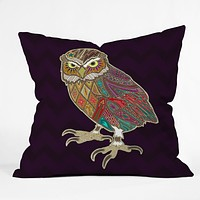 Sharon Turner Little Brother Owl Outdoor Throw Pillow