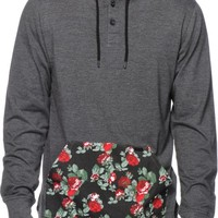 Empyre Roses Really Hooded Henley Shirt