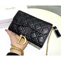 Dior SADDLE new embossed women's retro gold D letter accessories chain bag shoulder bag