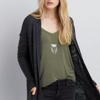 AEO Soft & Sexy Boxy T-Shirt , Maroon | American Eagle Outfitters