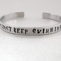 Just Keep Swimming   Disney Finding Nemo Bracelet  by emerydrive