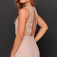 She's a Beauty Blush Lace Romper