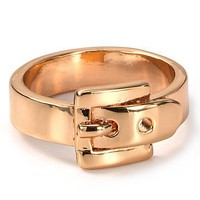 Michael Kors Rose Gold Buckle Ring - Jewelry & Accessories - Bloomingdale's