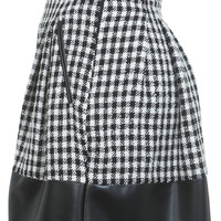 Black And White Check Skater - Shorts & Skirts - Sale & Offers - Miss Selfridge