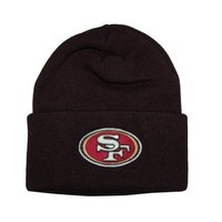 San Francisco 49ers Official NFL One Size Knit Beanie Hat by Team Apparel