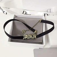 Dior JADIOR Choker  Dior 2017 gold JA letter chain, Necklace