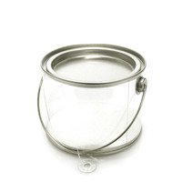 Clear Paint Pails Container Tin Lid, 4-inch x 3-inch