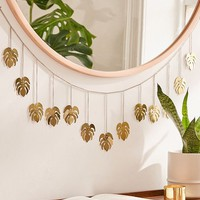Metal Monstera Leaf Banner | Urban Outfitters