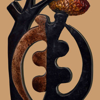 Adrinka Symbol, GYE NYAME, except for God, African Art, Authentic, African American Art, Afrocentric Art,
