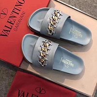 Valentino Women Fashion Casual Sandals Slippers #2982