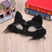Halloween Mask Sexy Mask Ladies Lace Masquerade Mask Fox Cat Eye Mask Party Dance Halloween Ball Kids Party Halloween Supplies