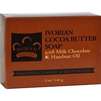 Nubian Heritage Bar Soap Ivorian Cocoa Butter, 5 Ounce