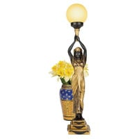 Park Avenue Collection Egyptian Goddess Of The Night Lamp