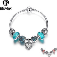 Bisaer Bs Classic Silver Plated Anniversary Bracelets For Women A3801