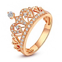 Kelly Sparkling Crown Ring
