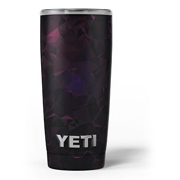 Muted Dark Abstract Geometric Shapes - Skin Decal Vinyl Wrap Kit compatible with the Yeti Rambler Cooler Tumbler Cups