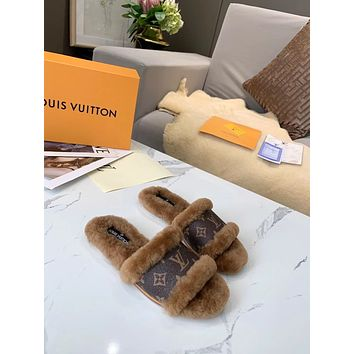 2021 NEW ARRIVAL LV Louis Vuitton Summer Popular women Casual Flat Sandal Slippers Shoes