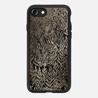 Snow Pines(gold) iPhone 7 Case by Kanika Mathur | Casetify