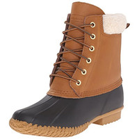 Skechers Womens Duck Leather Lace Up Pac Boots