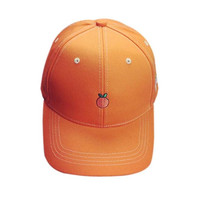 Embroidery Snapback Candy Color Orange Hat