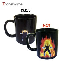 Transhome Creative Color Changing Mug 300ml Dragon Ball Z Vegeta Heat Sensitive Ceramic Temperature Sensing Rtic Milk Coffee Mug