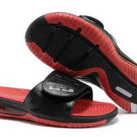 Nike Air LeBron Slide 78251460 Black/Red Casual Sandals Slipper Shoes Size US 7-11-1