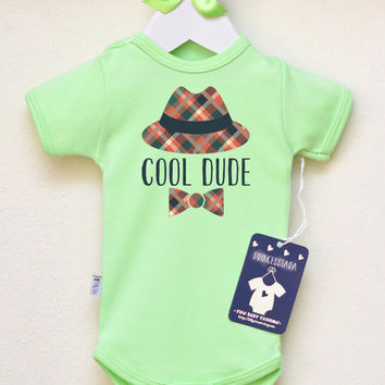 Funny Baby Boy Clothes.  Cool Dude Baby Boy Bodysuit. Hipster Boys' Romper. Infant Baby Clothing. Baby Boy Shirt. Choose Your Color
