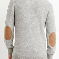 Elbow-Patch Textured Sweater