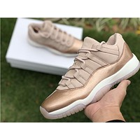 Air Jordan 11 Retro Low Rose Gold Sport Sneaker