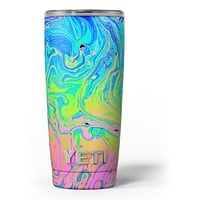 Neon Color Swirls - Skin Decal Vinyl Wrap Kit compatible with the Yeti Rambler Cooler Tumbler Cups