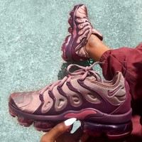 "NIKE AIR VAPORMAX PLUS ""SMOKEY MAUVE"" Atmospheric pad running shoes"