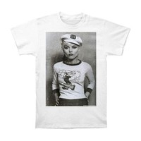 Blondie Men's  Sailor Debbie Slim Fit T-shirt White