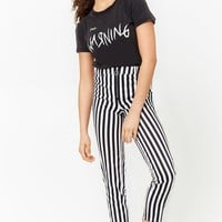 Striped Pull-Ring Pants