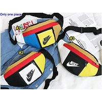 NIKE popular women's casual cross-breast bag fashion matching color Fanny pack