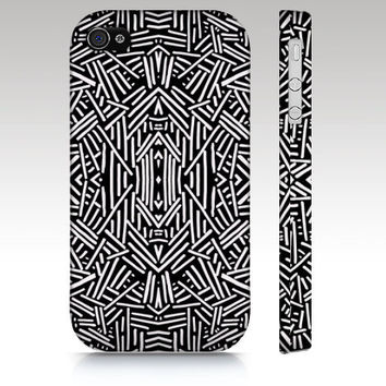 Black and White iPhone case, iPhone 4s case, iPhone 5 case, fashion tribal aztec ethnic pattern design, trendy art for your phone
