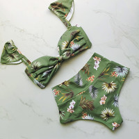 Beach Swimsuit Hot New Arrival Summer Swimwear Print Sexy Bikini [11553635855]
