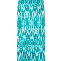Diamond Patterned Maxi Skirt - Sea Green Combo