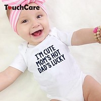 Baby Cotton Romper born Boys Girls Soft Jumpsuit Infant Letter Print Pajamas Toddler Summer Outfit Baby Photography Prop