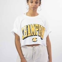 Champion Big Logo Reworked Crop Top
