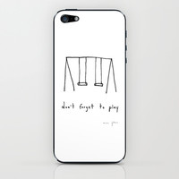 don't forget to play iPhone & iPod Skin by Marc Johns