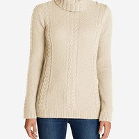 Women's Cable Fable Turtleneck Sweater | Eddie Bauer