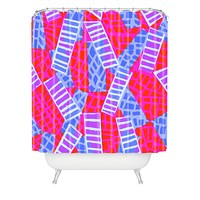 Sarah Bagshaw Oblique Lino Shower Curtain