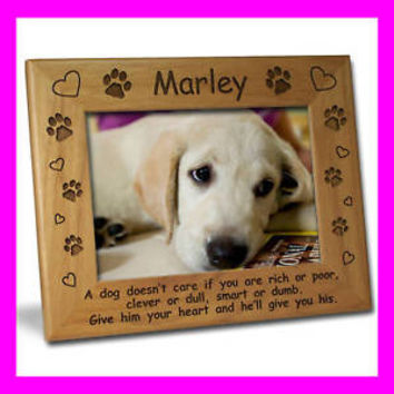 4x6 PERSONALIZED CUSTOM PET DOG PICTURE FRAME GIFT