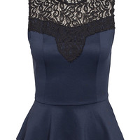 Adelle Peplum Top, Only