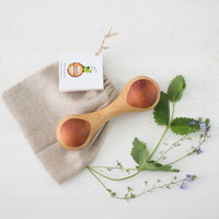 Natural Heirloom Baby Rattle Toy Ashwood & Pear Wood toy Handmade wooden toys Baby shower New baby gift Organic Eco friendly Toys for babies