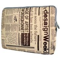 MyGift 13 inch Newspaper Pattern Laptop Sleeve for most of Apple Macbook, Acer, ASUS, Dell, HP, Sony
