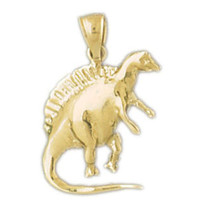 14K GOLD ANIMAL CHARM - DINOSAUR #2275